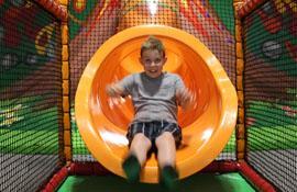 The Volcano Slide at Safari Play!